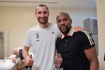 Chielini and Floyd mayweather
