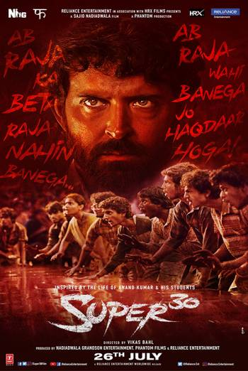 Super 30 (2019) movie download 480p pDVDRip