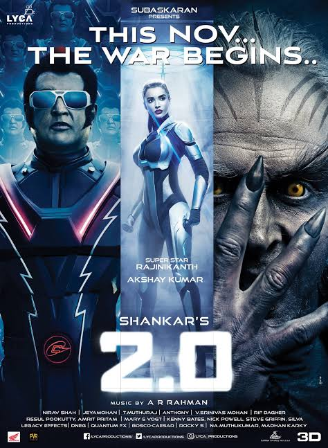 Robot 2.0 (2018) South Indian Hindi Dubbed Movie