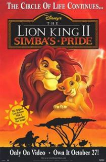The Lion King 2 Simbas Pride (1998) 480p Hindi Dubbed